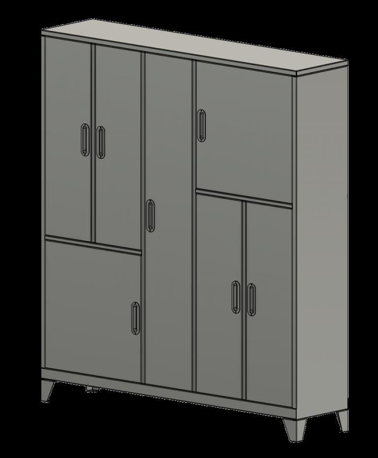 Sheet metal locker 1