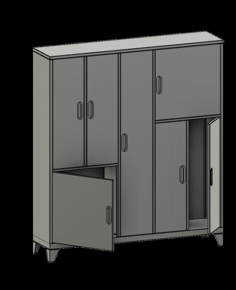 Sheet metal locker 2